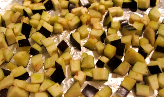 Eggplant Croutons